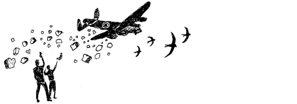 illustratie oorlog in inkt